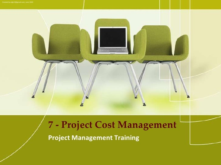 PMP Training - 07 project cost management