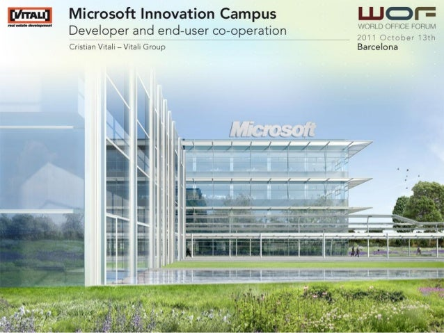 Microsoft Innovation Campus in Milan, presented in WOF Green Barcelona 2011