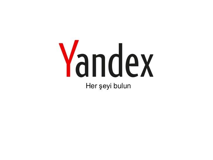 Yandex.Türkiye Lansman Sunumu
