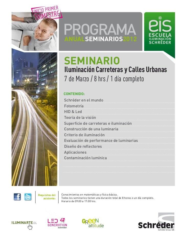 PROGRAMA                                  ANUALSEMINARIOS2012                                   SEMINARIO                 ...