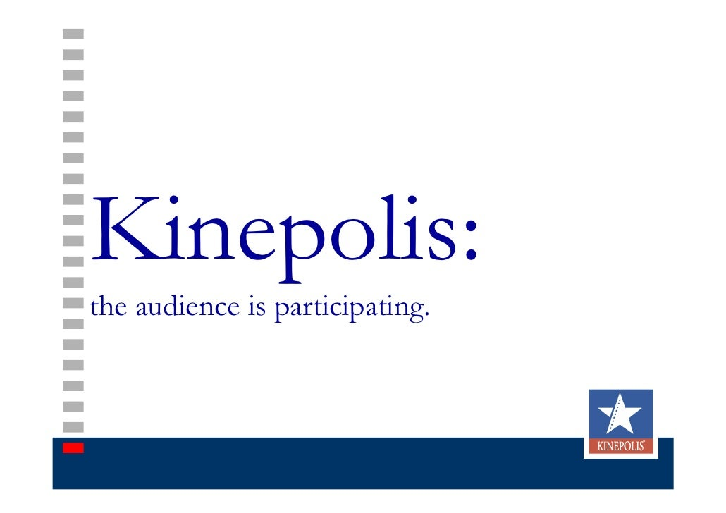 Kinepolis: the audience is participating.