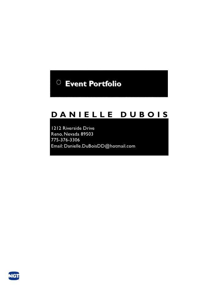 D2 Event Portfolio