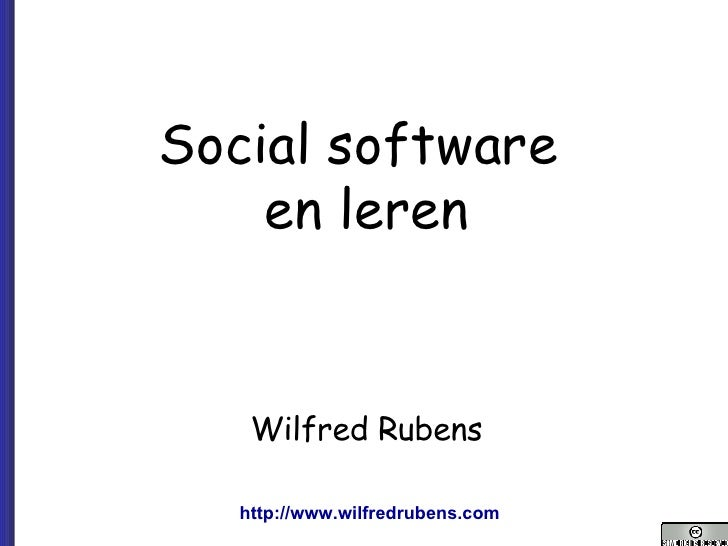 071022 (Wr) V1 Didactisch Gebruik Social Software Nhl