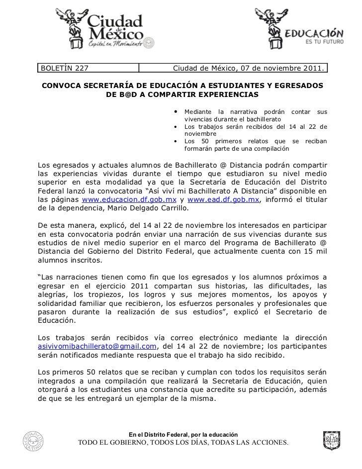 Convoca Secretaría de Educación a estudiantes y egresados del Bachillerato @ Distancia a compartir experiencias