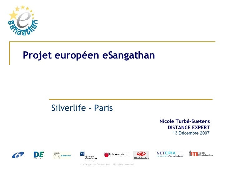 Projet européen eSangathan Silverlife - Paris