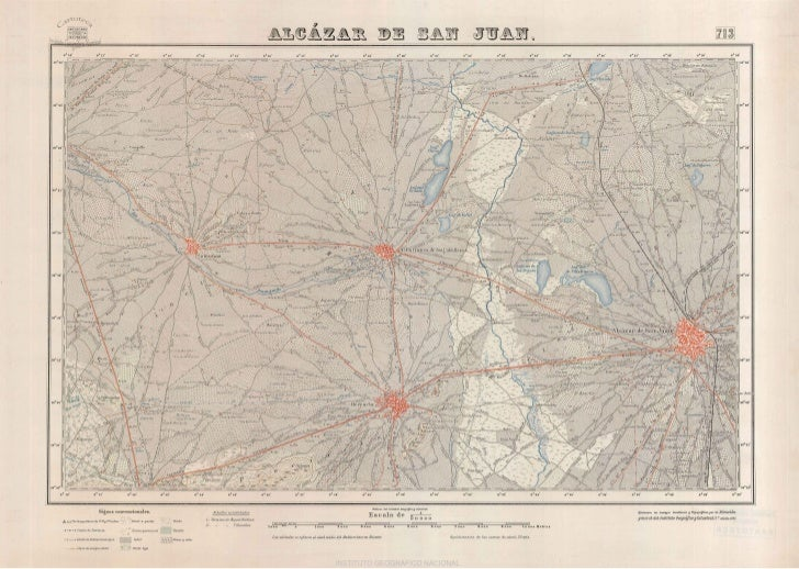 Mapa Topográfico Alcázar de San Juan (Año 1955). MTN 0713 1955
