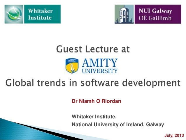 Trends in software development: Guest Lecture at Amity Business School, India