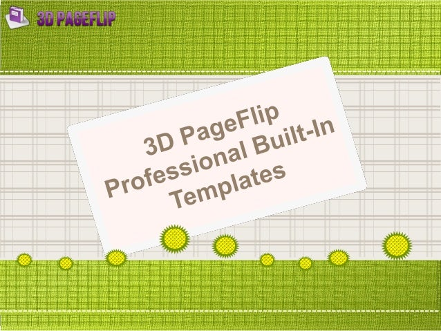 3D PageFlip Professional built in templates