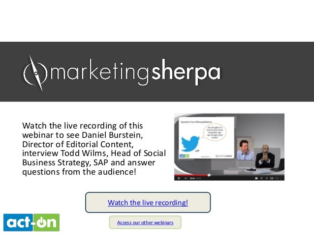 Watch the live recording of this webinar to see Daniel Burstein, Director of Editorial Content, interview Todd Wilms, Head...