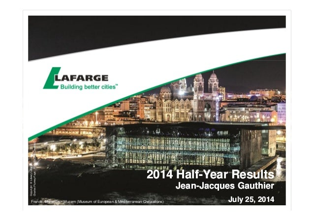 2014 Half-Year Results - The slides for the analyst presentation