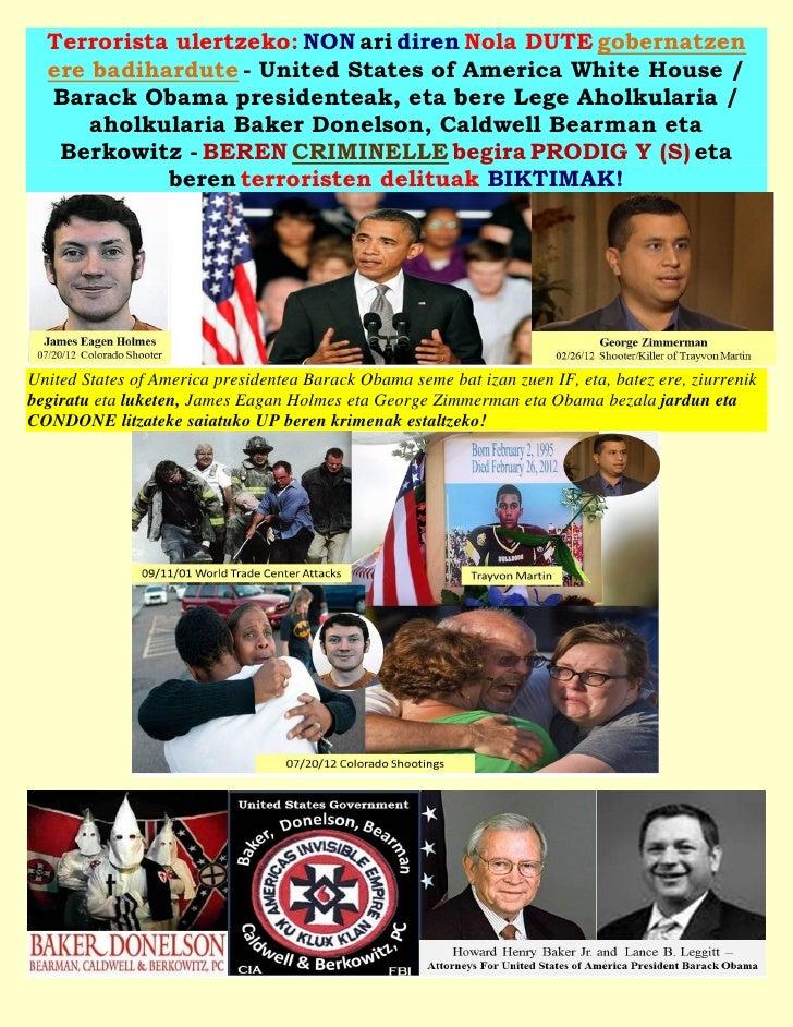 Terrorista ulertzeko: NON ari diren Nola DUTE gobernatzen  ere badihardute - United States of America White House /  Barac...