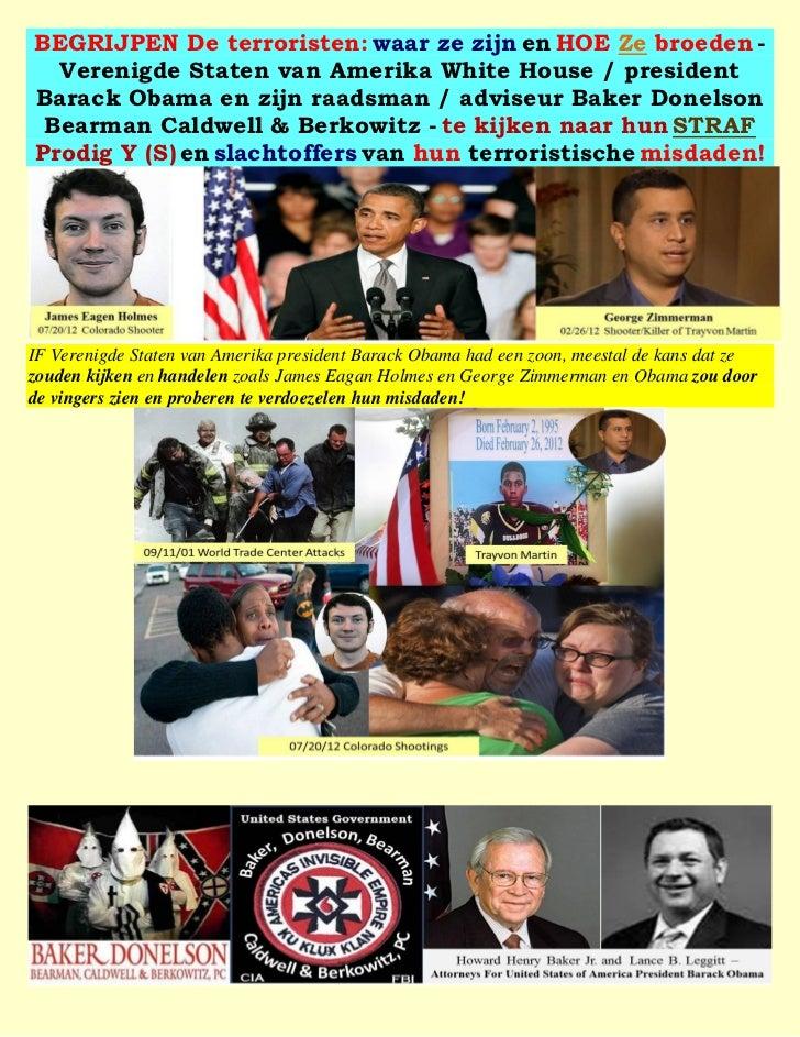 BEGRIJPEN De terroristen: waar ze zijn en HOE Ze broeden -  Verenigde Staten van Amerika White House / presidentBarack Oba...