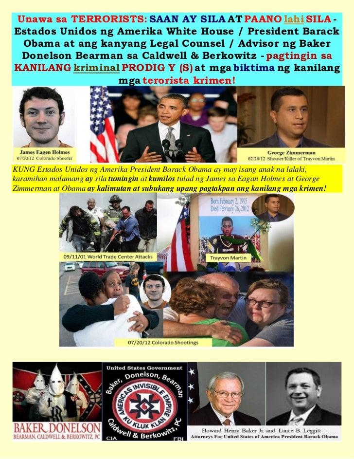 Unawa sa TERRORISTS: SAAN AY SILA AT PAANO lahi SILA -Estados Unidos ng Amerika White House / President Barack Obama at an...