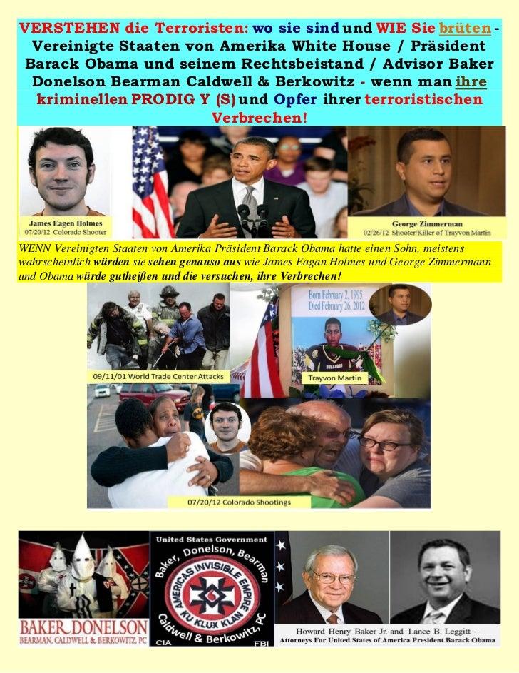 VERSTEHEN die Terroristen: wo sie sind und WIE Sie brüten - Vereinigte Staaten von Amerika White House / PräsidentBarack O...