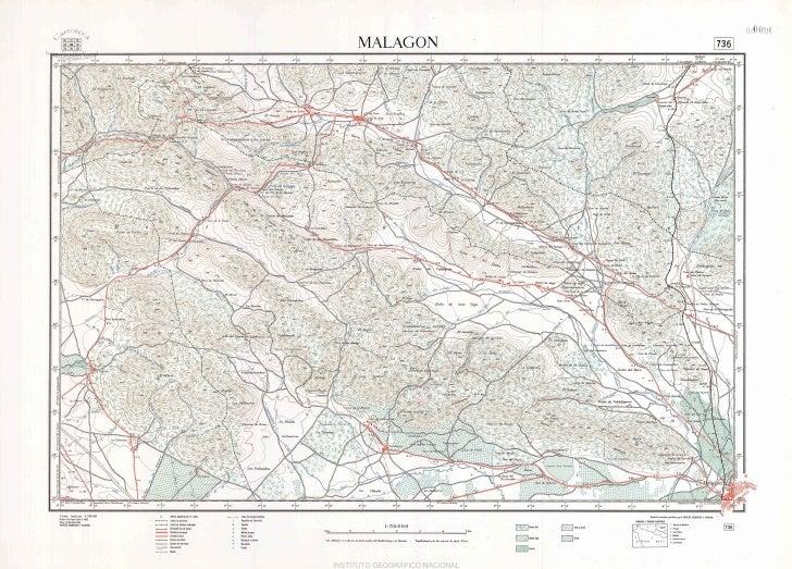 Mapa topográfico Malagón (Año 1966). MTN 0736.1966.