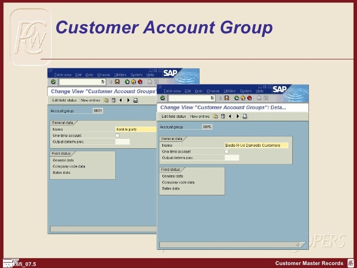 sap accounting assignment group The following accounting elements are involved in most sap environments:  company code purchase org purchase group account assignment category .