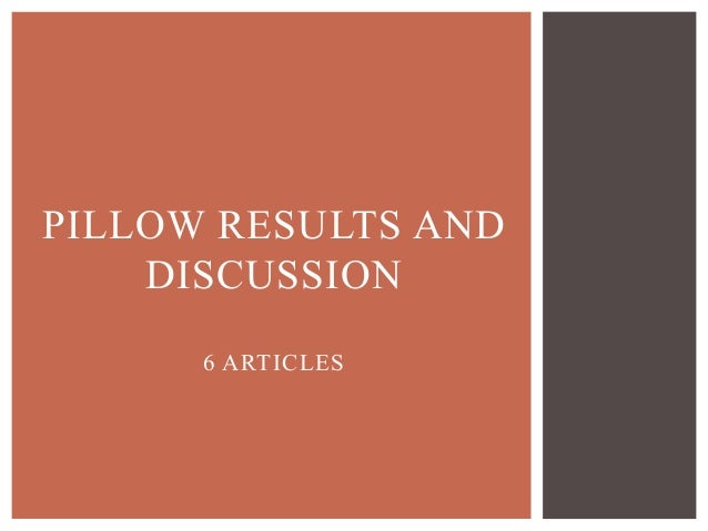 Results and discussion thesis