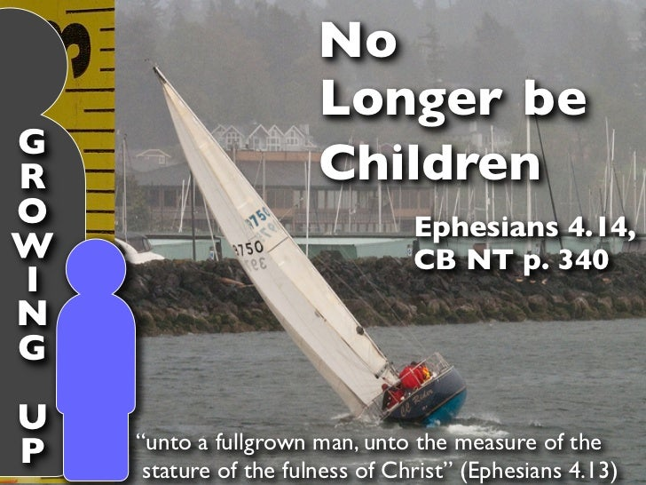 No                       Longer beGR                      ChildrenO                                Ephesians 4.14,W       ...