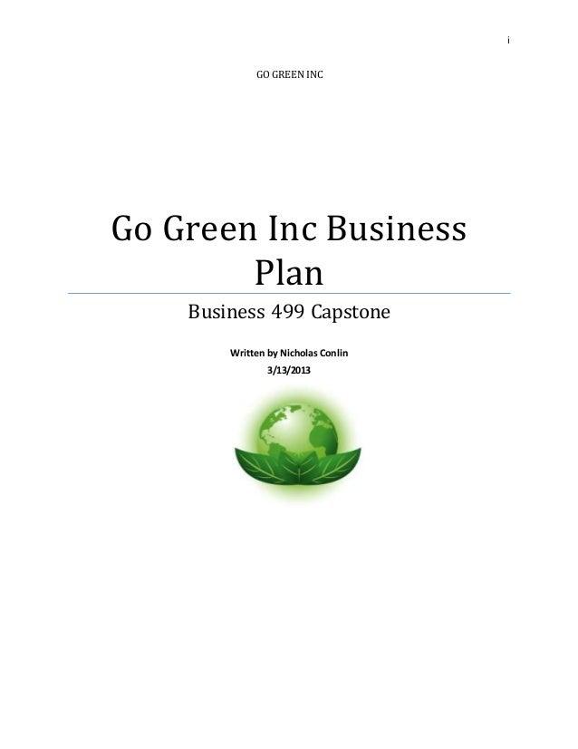 Green business plan