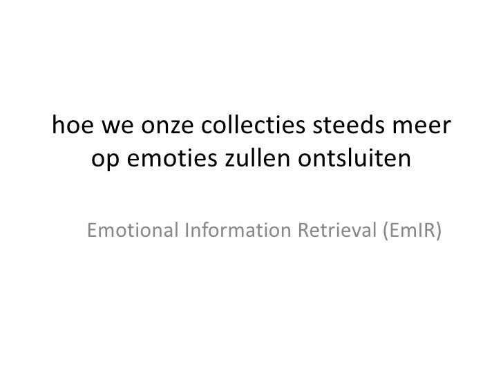 Emotional Information Retrieval