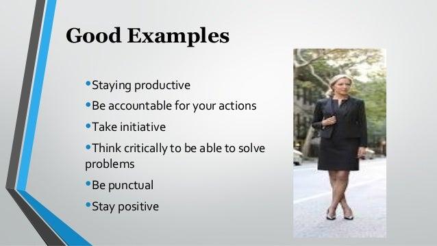 work ethic examples