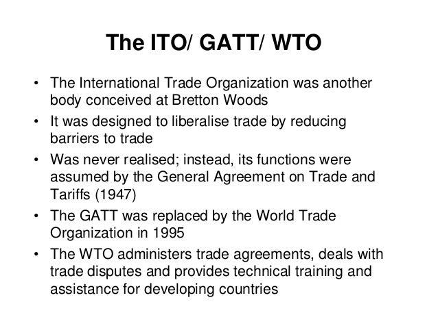 international business gatt to wto