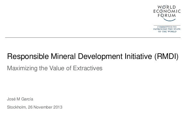 Responsible mineral development: a multidimensional view on value creation in mining