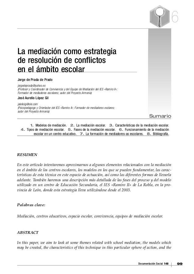 07 la mediación como estrategia de resolución de conflictos en el ámbito escolar[1] copy