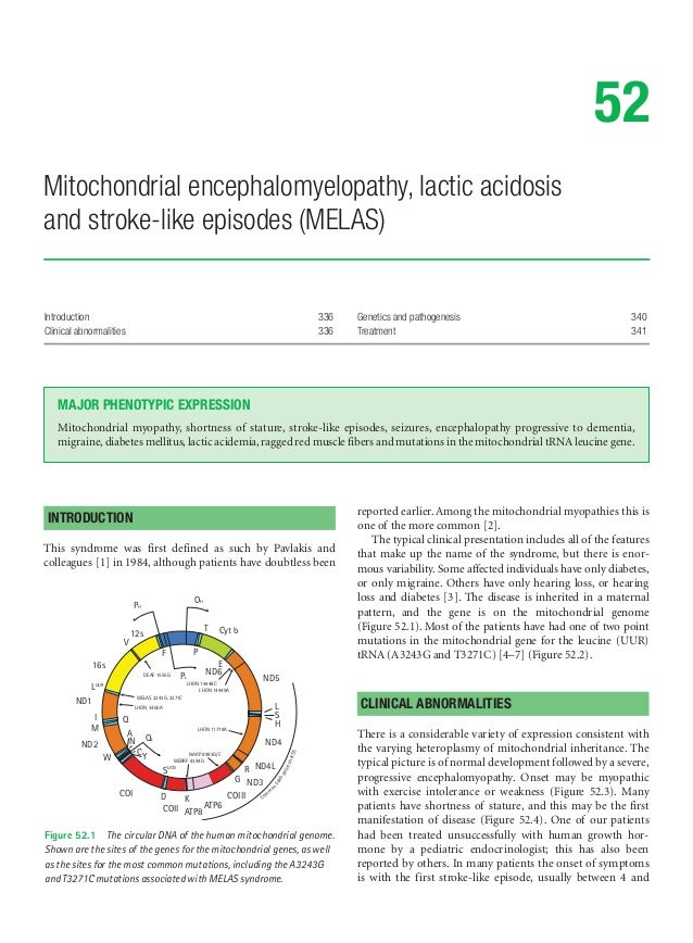 Introduction 336Clinical abnormalities 336Genetics and pathogenesis 340Treatment 34152Mitochondrial encephalomyelopathy, l...