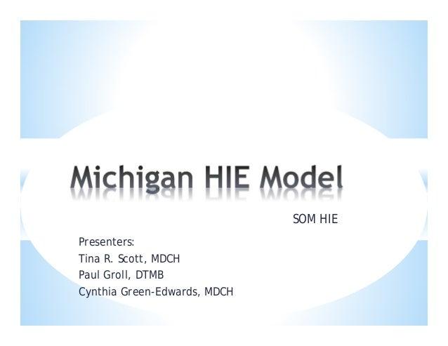 Michigan HIE Model- Cynthia Edwards