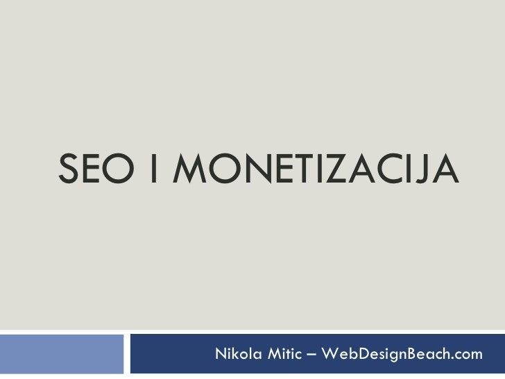 SEO I MONETIZACIJA Nikola Mitic – WebDesignBeach.com