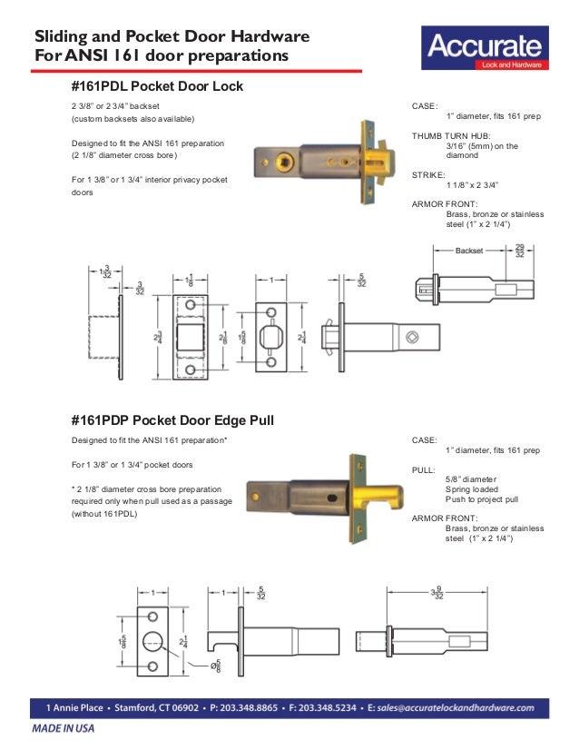 pocket door sets for pre bored doors ansi 161 door