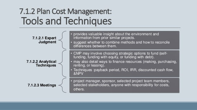 cost management techniques 1 principles of cost control  the manager needs to be concerned with the alternative cost - the cost of the lost opportunity management has to be able to make.