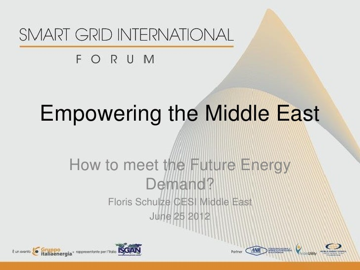 Empowering the Middle East  How to meet the Future Energy           Demand?       Floris Schulze CESI Middle East         ...