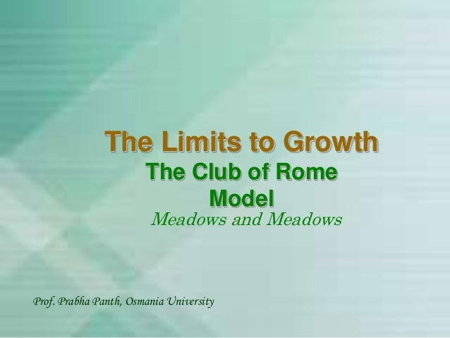 07 The Club of Rome Model