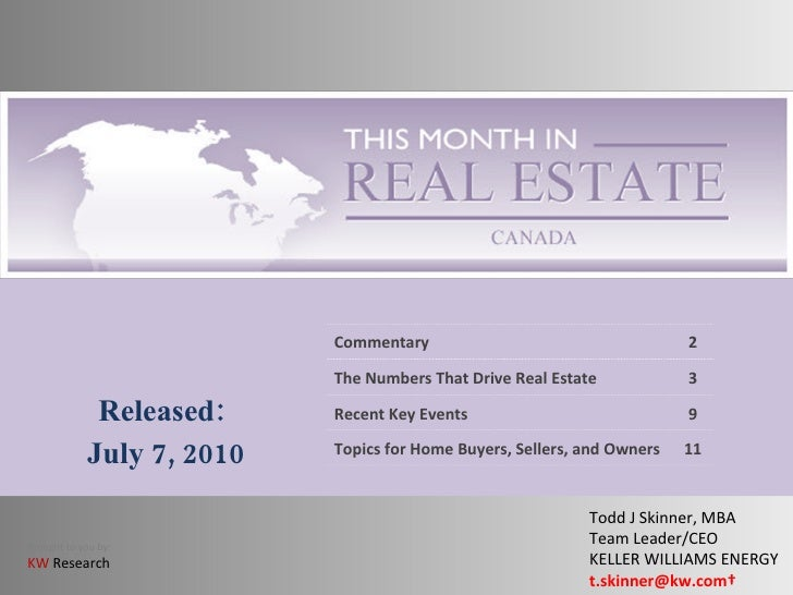 This Month In Real Estate - July \'10