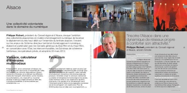 Alsace  22  Philippe Richert, président du Conseil régional d'Alsace, évoque l'ambition des collectivités alsaciennes en m...