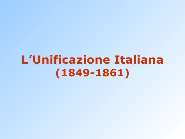 07 unificazione italiana