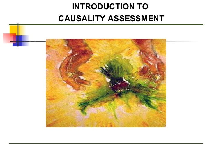 INTRODUCTION TO  CAUSALITY ASSESSMENT