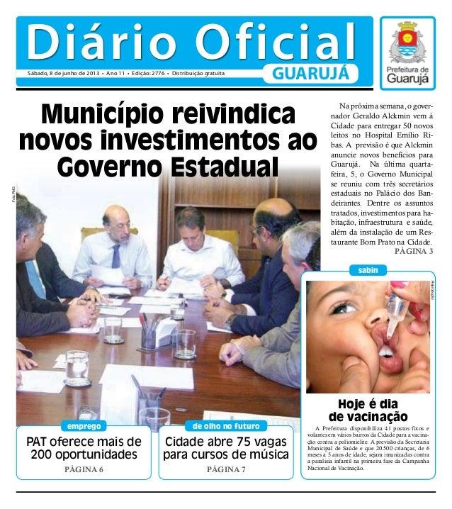 PAT oferece mais de200 oportunidadesPágina 6empregoHoje é diade vacinaçãosabinCidade abre 75 vagaspara cursos de músicaPág...