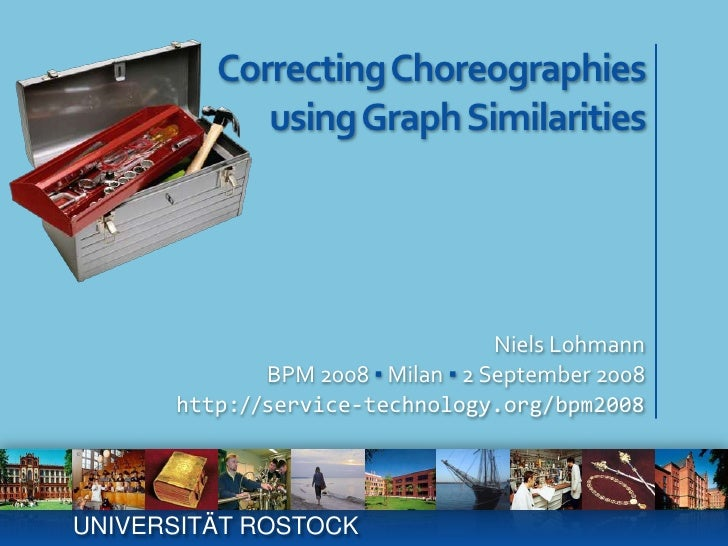 Correcting Choreographiesusing Graph Similarities<br />Niels Lohmann<br />BPM 2008 ▪ Milan ▪ 2 September 2008<br />http://...