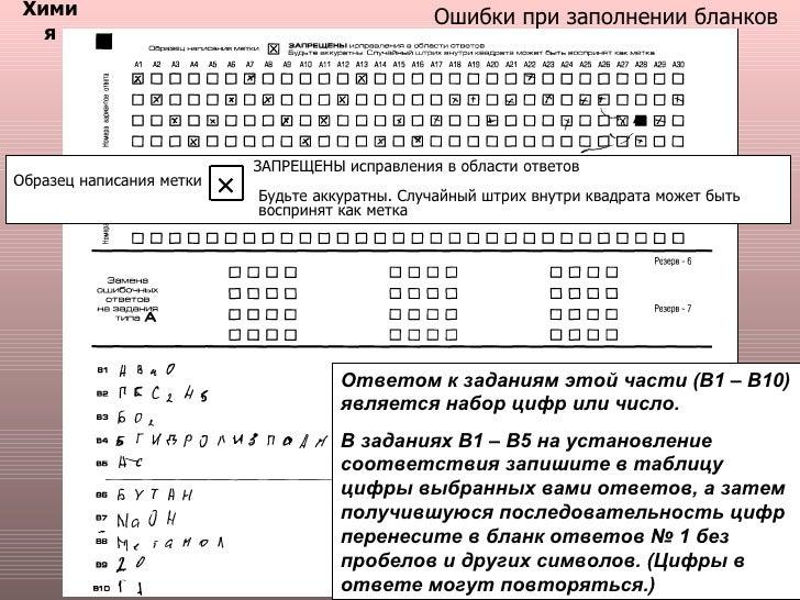 образец заполнения бланка по егэ по русскому языку - фото 11