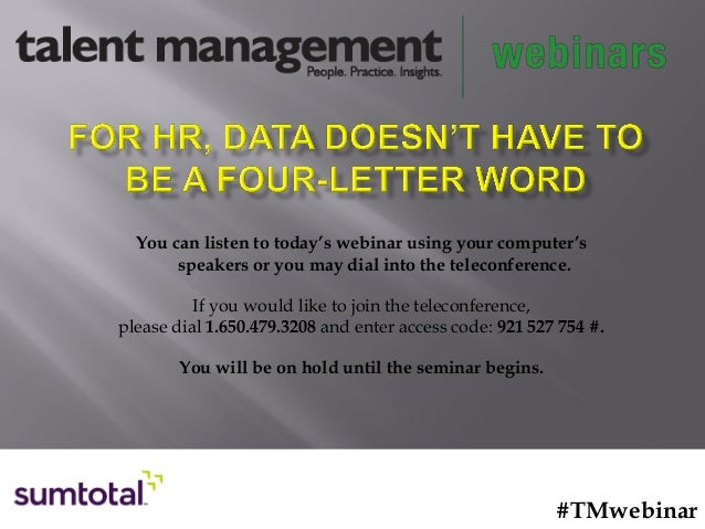 For HR, Data Doesn't Have to Be a Four-Letter Word