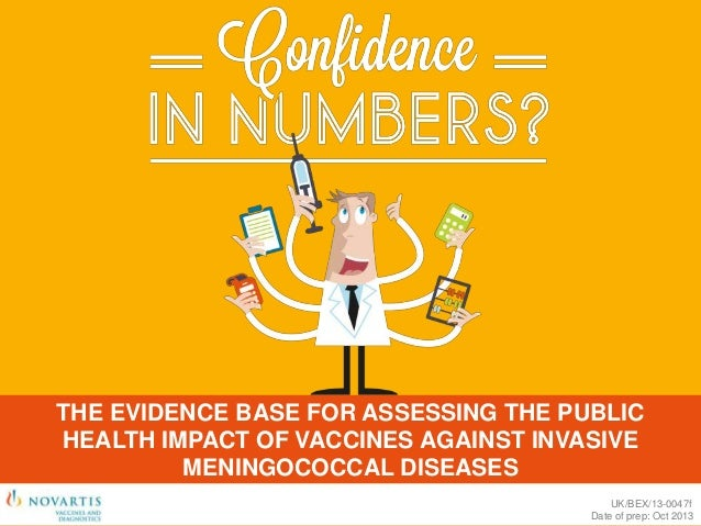 Confidence in numbers; the evidence base for assessing thepublic health impact of vaccines against invasive meningococcal diseseases