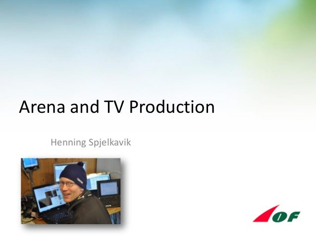 Arena and TV-production - at IOF Open Technical Meeting in Lavarone 2014