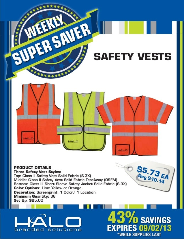 Classs II and III Safety Vests 43% off