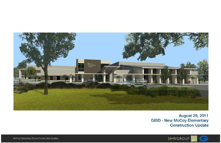 08-29-2011 SHW Project Update