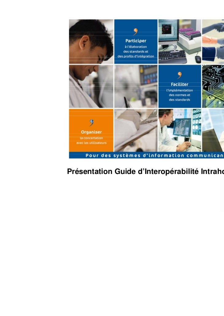 Présentation Guide d'Interopérabilité Intrahospitalier