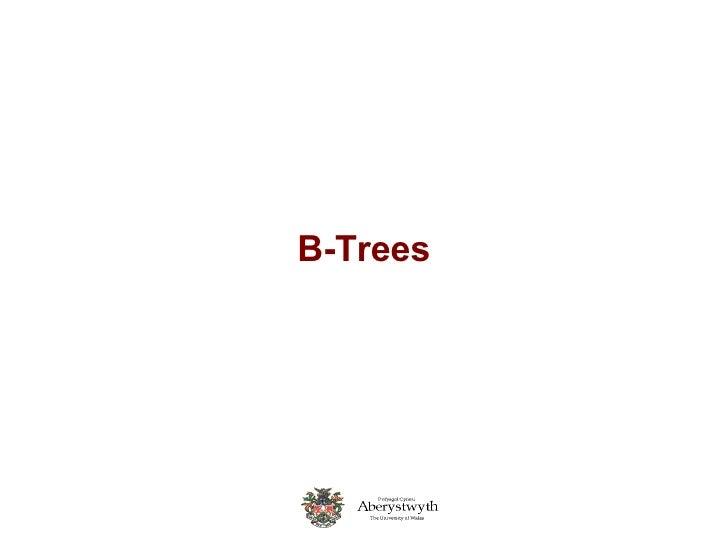 08 B Trees