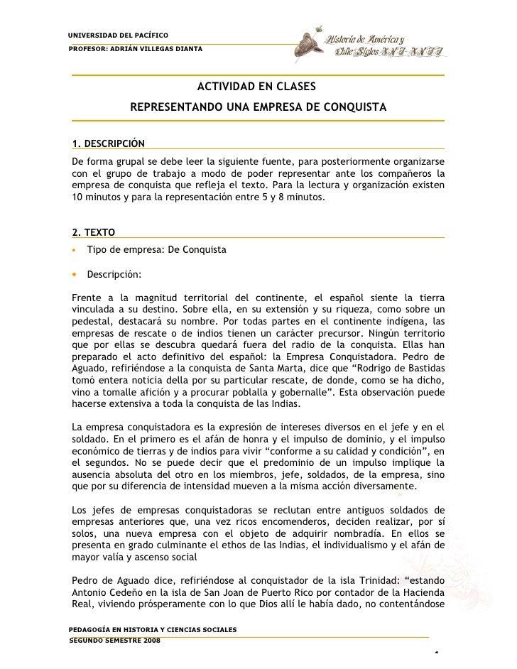 UNIVERSIDAD DEL PACÍFICO PROFESOR: ADRIÁN VILLEGAS DIANTA                                    ACTIVIDAD EN CLASES          ...